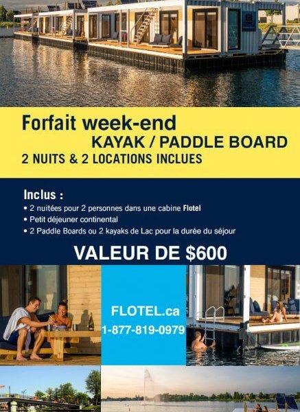 Forfait Kayak | Paddle Board en Week-end à imprimer