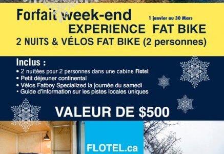 Forfait Fat Bike en Week-end à imprimer