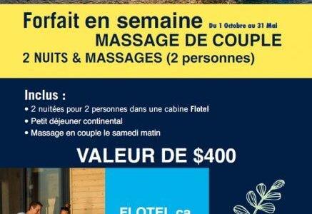 Forfait Massage de couple en Semaine à imprimer