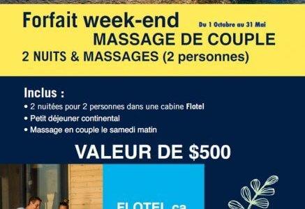 Forfait Massage de couple en Week-end avec Emballage Cadeau