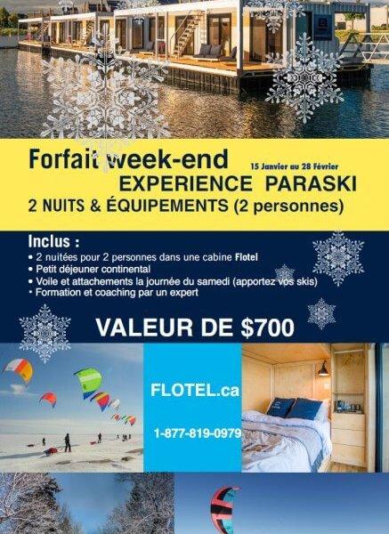 Forfait Paraski en Week-end avec Emballage Cadeau