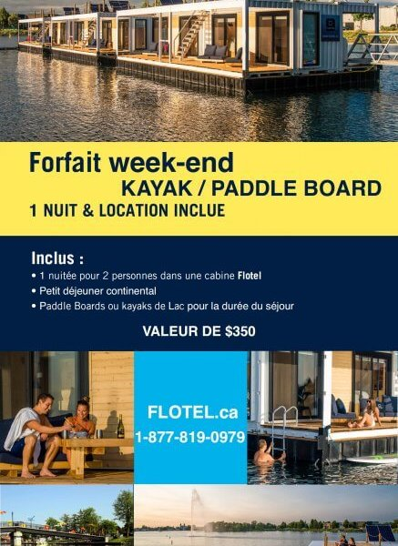 Forfait 1 nuit Kayak/Paddle board en Week-end
