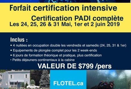 Forfait Plongee Certification