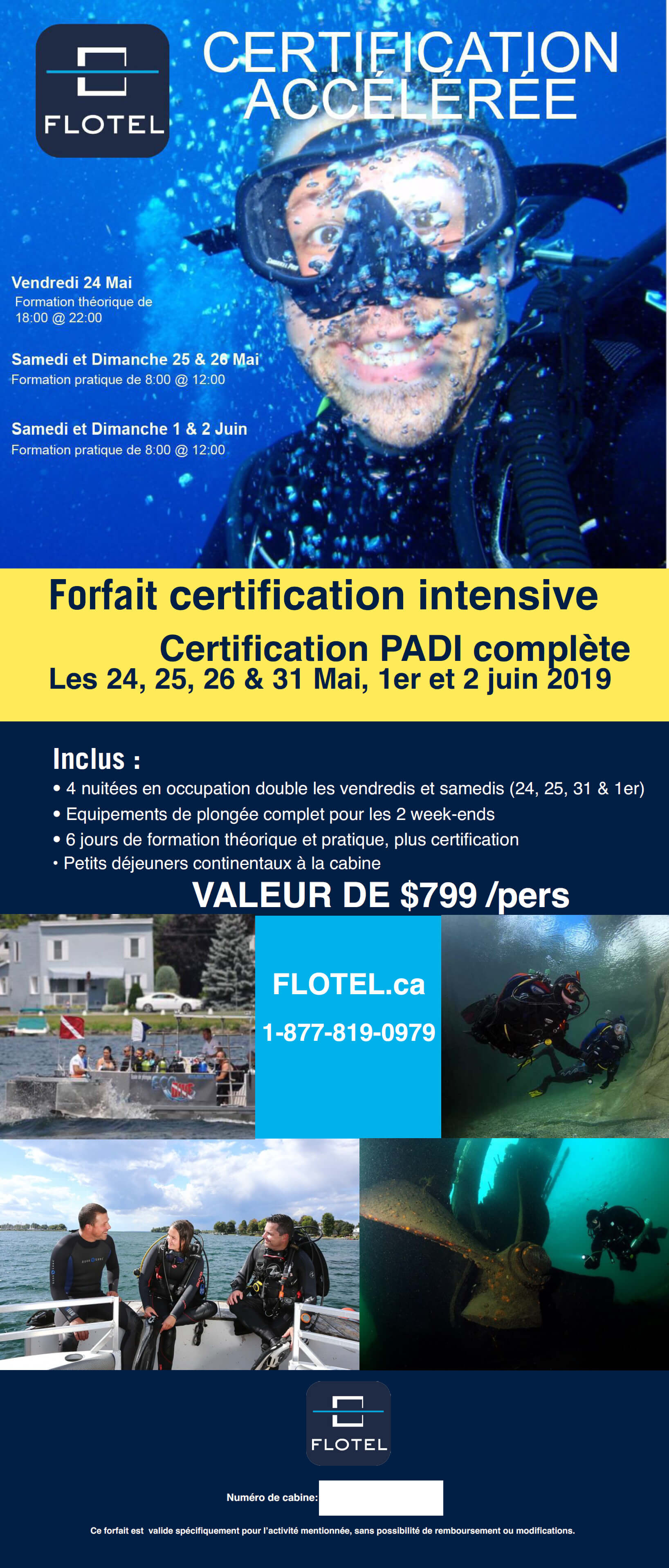 Forfait Plongee Certification Flotel Inc